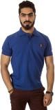 Groviano Solid Men's Polo Neck Dark Blue...