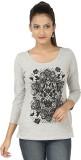 Subu Embellished Women's Round Neck Grey...