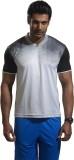 Omtex Solid Men's V-neck White, Black T-...