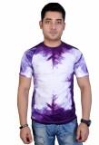 MC Printed Men's Round Neck Purple, Whit...