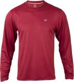 Wildcraft Solid Men's Round Neck Maroon ...