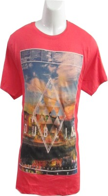 Revinfashions Graphic Print Men's Round Neck Red T-Shirt