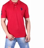 Ganesh Creation Solid Men's Polo Neck Re...