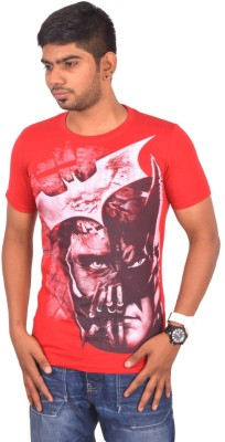 Rogue Printed Men's Round Neck Red T-Shirt