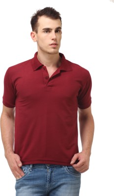 Lime Fashion Solid Men's Polo Maroon T-Shirt