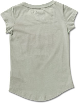 Levi's Casual Short Sleeve Printed Girl's Green Top