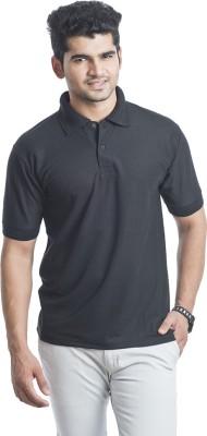 Eprilla Solid Men,s Polo Neck Black T-Shirt