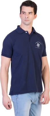 Green Wich United Polo Club Solid Men's Polo Neck Dark Blue T-Shirt