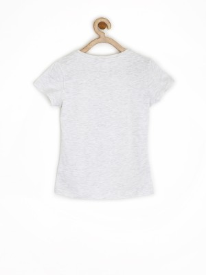 Sela Printed Girl's Round Neck T-Shirt