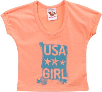 Apple Pie Printed Baby Girl,s Round Neck T-Shirt