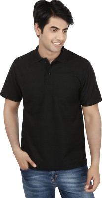 French Circle Solid Men's Polo Neck T-Shirt