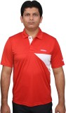 Fitsoul Solid Men's Polo Neck Red T-Shir...