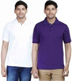 Fleximaa Solid Men's Polo Neck Purple, W...