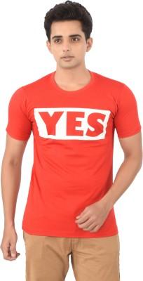 Attitudecrazyzone Printed Men,s Round Neck Red T-Shirt