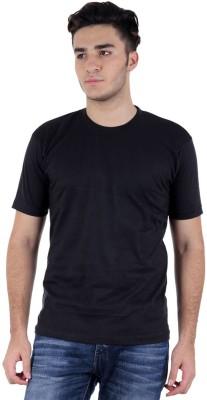 Subu Solid Men's Round Neck Black T-Shirt