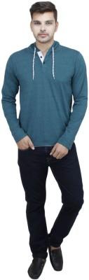 Vsquared Solid Men's Hooded T-Shirt