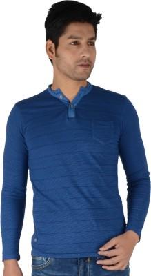 Killer Solid Men's Henley Blue T-Shirt