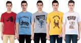 Vestiario Printed Men's Round Neck Multi...