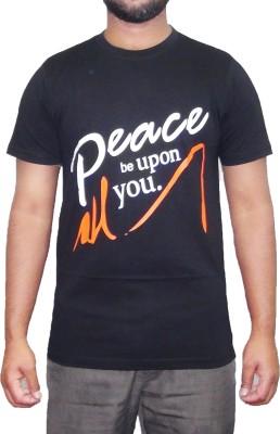 pious fashion club Printed Men,s, Boy's Round Neck Black T-Shirt