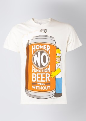 The Simpsons Printed Men's Round Neck T-Shirt