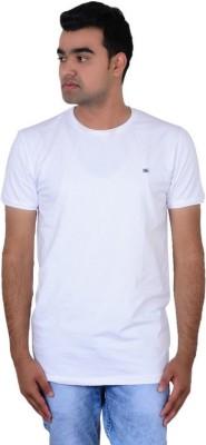IPG Solid Men's Round Neck White T-Shirt