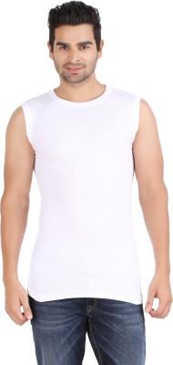 Zippy Striped Men's Round Neck White T-Shirt