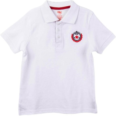 Oye Solid Boy's Polo Neck T-Shirt