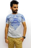 Indiano Printed Men's Round Neck Grey T-...