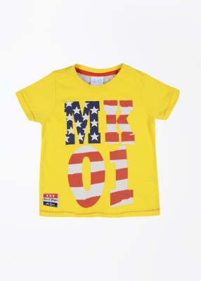 FS Mini Klub T- shirt For Baby Boys(Yellow)