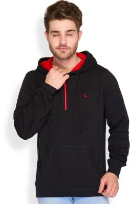 Parx Solid Men's Hooded Black T-Shirt