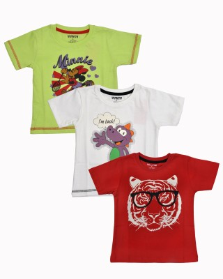 HUNCH Graphic Print Baby Boy,s Round Neck T-Shirt