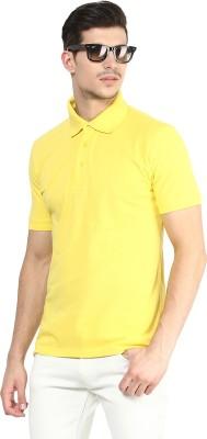Yellow Submarine Solid Men,s Polo Neck Yellow T-Shirt
