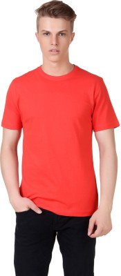 Aventura Outfitters Solid Men's Round Neck Red T-Shirt