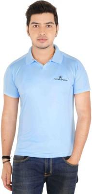 Jbn Creation Solid Men's Polo Neck Light Blue T-Shirt