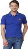 ABLOOM Solid Men's Polo Neck Blue T-Shir...