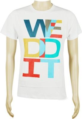 Sixthbase Printed Men's Round Neck White T-Shirt