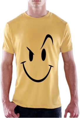 13th Avenue Printed Men's Round Neck Yellow T-Shirt