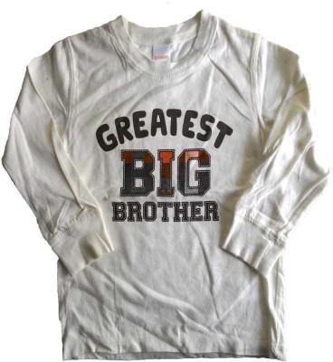 Cool Club Printed Boy's Round Neck White T-Shirt