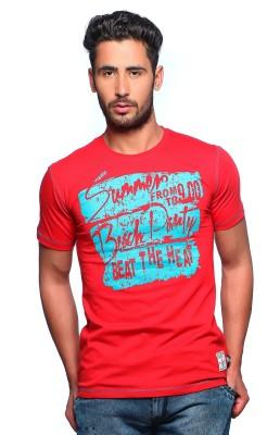 Nucode Graphic Print Men's Round Neck Red T-Shirt