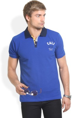 Thisrupt Solid Men's Polo Neck Blue T-Shirt