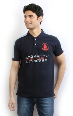 Ethane Printed Men's Polo T-Shirt