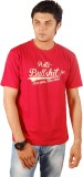 Socratees Printed Men's Round Neck Red T...