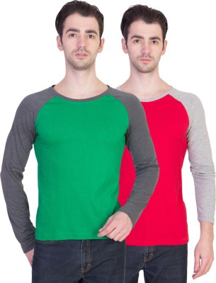 14forty Solid Men's Round Neck Multicolor T-Shirt