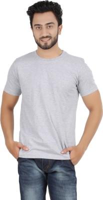 Ocean Race Solid Men,s Round Neck Grey T-Shirt
