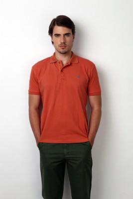 Bombay High Solid Men,s Polo Orange T-Shirt