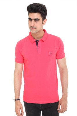 Colors and Blends Solid Men,s Polo Red T-Shirt
