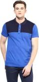 Benoit Solid Men's Polo Neck Blue T-Shir...
