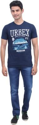 urbantouch Printed Men's Round Neck Blue T-Shirt