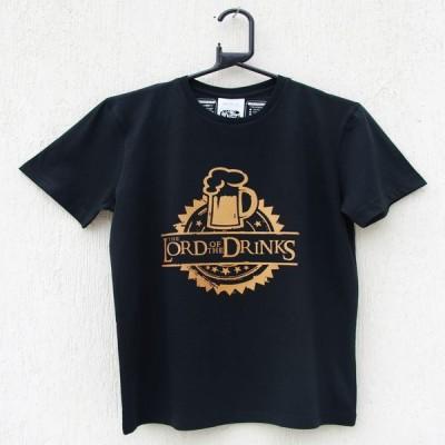 ENWE Graphic Print Men's Round Neck Black T-Shirt