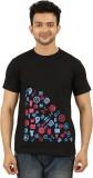 AG Printed Men's Round Neck Black T-Shir...